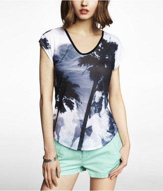 Express Dolman Graphic Tee - Surreal Summer