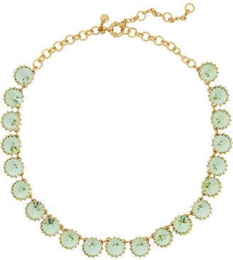 J.Crew Venus Flytrap gold-tone crystal necklace
