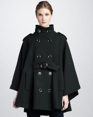 Rachel Zoe Candice Cape-Sleeve Coat