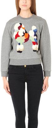 3.1 Phillip Lim Poodle Patch Crop Sweatshirt