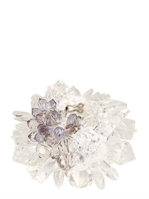 Missoni Plexi Glass Crystals On Knit Bracelet