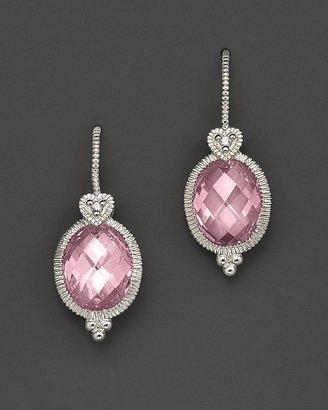 Judith Ripka Sterling Silver Oval Stone Earrings