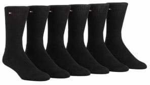 Tommy Hilfiger 6-Pack Combed Cotton Blend Socks