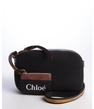Chloé back and brown leather change pouch shoulder bag