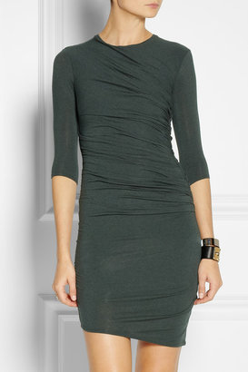 Helmut Lang Ruched jersey dress