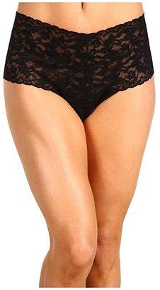 Hanky Panky Signature Lace Retro Thong (Black) Women's Underwear