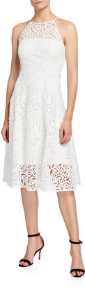 Alessia Embroidered Lace Halter Dress