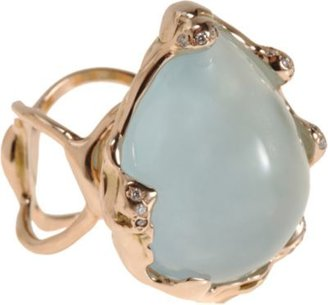 Lucifer Vir Honestus Aquamarine & Diamond Ring