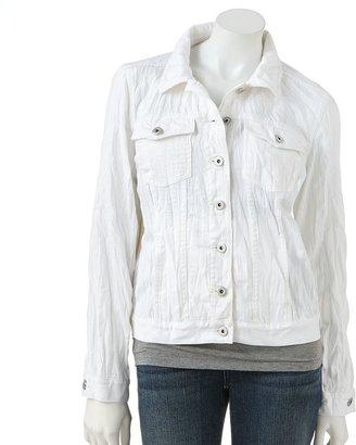 JLO by Jennifer Lopez crinkled denim jacket - women's