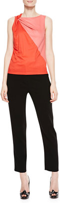 Paule Ka Cropped Trouser Pants, Black