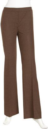 Lafayette 148 New York Menswear Straight-Leg Pants, Espresso