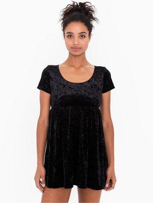 American Apparel Stretch Velvet Babydoll Dress