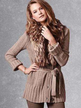 Victoria's Secret A Kiss of Cashmere Cable-knit Cardi Sweater Coat