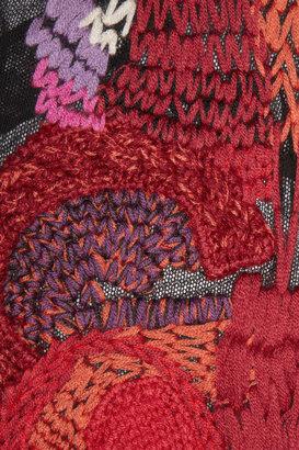 Maison Martin Margiela Embroidered open-knit cotton top