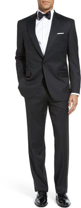 David Donahue Russell Classic Fit Loro Piana Wool Peaked Lapel Tuxedo
