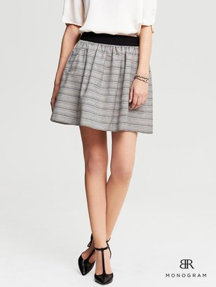 Banana Republic BR Monogram Metallic Tweed Full Skirt