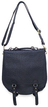 CC Skye Onie Messenger Bag in Black Ostrich