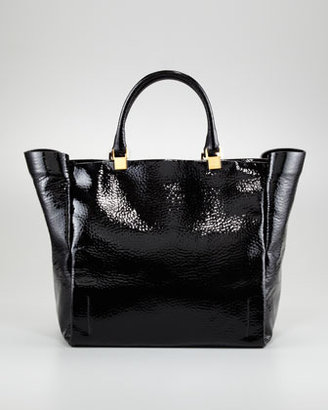 Lanvin Patent Leather Moon River Tote Bag