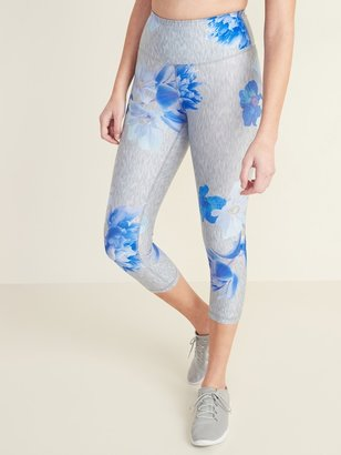 Old Navy High-Waisted Elevate Floral Compression Crops for Women