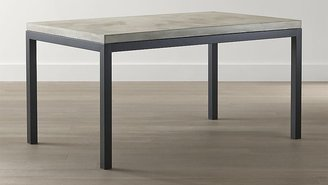 Crate & Barrel Parsons Concrete Top/ Dark Steel Base 72x42 Dining Table