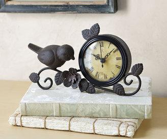 Napa Style Flower Perch Clock