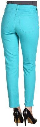 NYDJ Alisha 7/8th Skinny Ankle Colored Denim (Aquamarine) - Apparel
