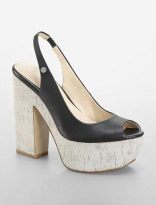 Calvin Klein Black Raimy Peep Toe Platform Pump