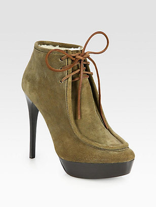 Burberry Ramsdale Suede Lace-Up Ankle Boots