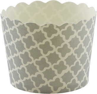 Container Store Small Baking Cups Clover Silver Pkg/25