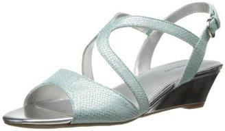 Bandolino Women's Grayson Fabric Wedge Sandal $11.99 thestylecure.com