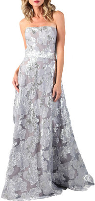 Rene Ruiz Collection Strapless Jacquard Gown