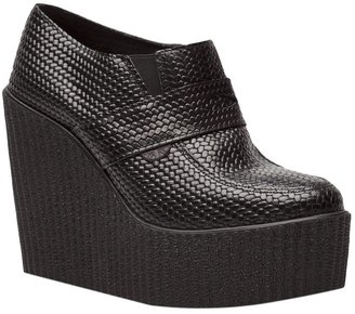 Underground Rippled wedge loafer