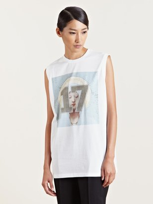 Givenchy Women's Sleeveless Number Print T-Shirt