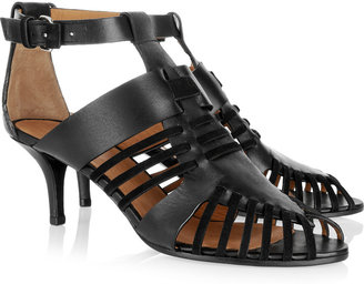 Givenchy Huarache-inspired leather and suede sandals