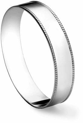 Gorham Sterling Beaded Bangle Bracelet, Large