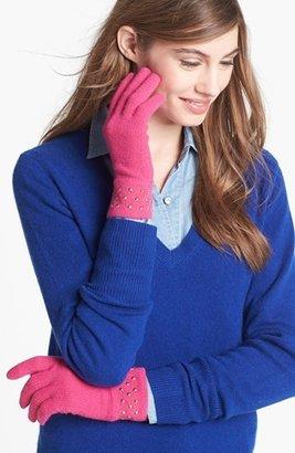 Kate Spade Stud Cuff Merino Wool Gloves