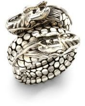John Hardy Naga Sterling Silver Dragon Dot Coil Ring $495 thestylecure.com
