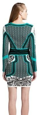 Cynthia Steffe Long-Sleeve Printed Dress