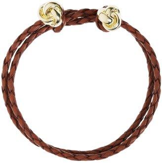 Brooks Brothers Leather Woven Bracelet