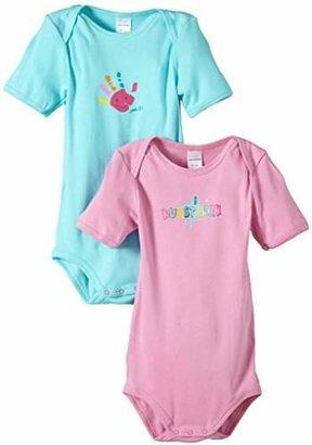 Schiesser Girls' 0-24m 2pack Baby-Bodies 1/2 Bodysuit,(Size: 080)