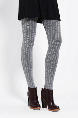 Urban Outfitters Two-Tone Cable-Knit Tight