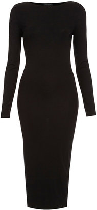 Topshop Plain Midi Bodycon Dress