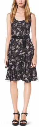 Michael Kors Floral-Print Silk-Twill Dress