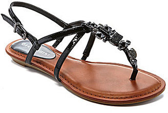 Gianni Bini Sapphire Jeweled Wedge Sandals