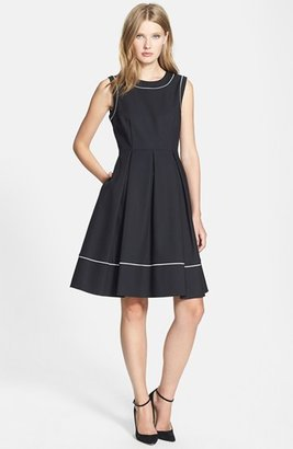 Kate Spade 'hope' Cotton Blend Fit & Flare Dress