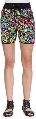 Marc by Marc Jacobs Jungle-Print Drawstring Silk Shorts