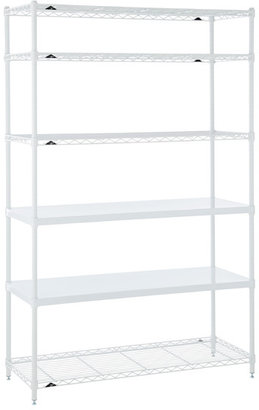 Container Store Office Shelves White