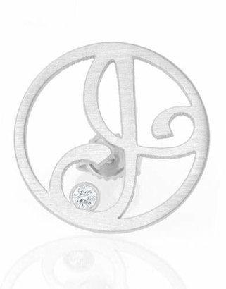 6c71fe820753cd K Kane Left Singular Mini One-Initial Diamond Stud Earring