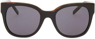 Givenchy Logo-Temple Square Sunglasses, Black/Smoke