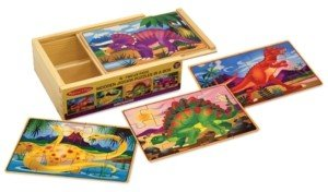 Melissa & Doug Kids Toy, Dinosaurs Puzzles in a Box - Dinosaur Toy
